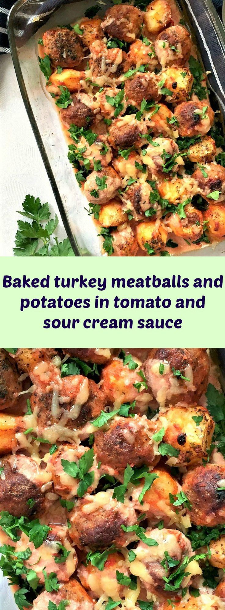 65 best turkey recipes images on pinterest baked turkey meatballs and potatoes in tomato and sour cream sauce forumfinder Choice Image