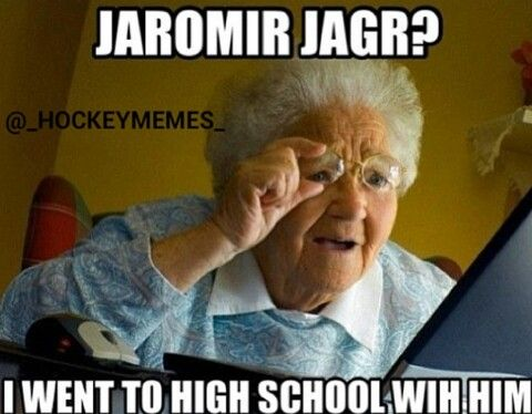 Jaromir Jagr isn't THAT old :P #hockey #humor