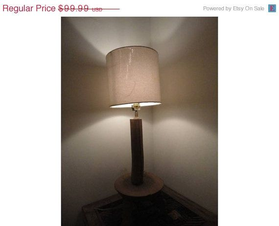 Recycled Handmade Table Lamp in Vintage Decor by MatureSourcing, CE / UL Certified Lamps