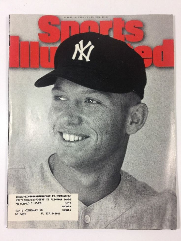 Sports Illustrated New York Yankees August 21 1995 Mickey Mantle Ryder Cup Team  | eBay