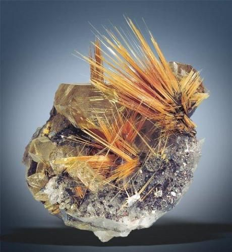 Rutile , Rutile is the most common natural form of TiO2. Yes, it is as fragile as it appears... (Author: Gail) / Mineral Friends <3