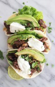 pulled beef taco's uit de slowcooker