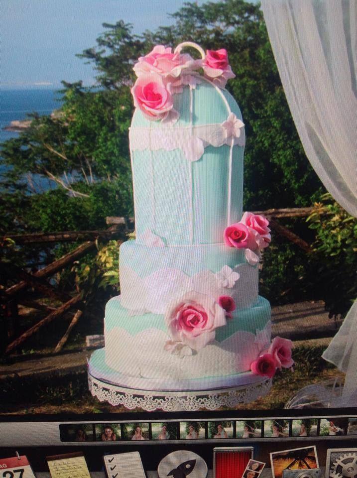 chabby chic cake