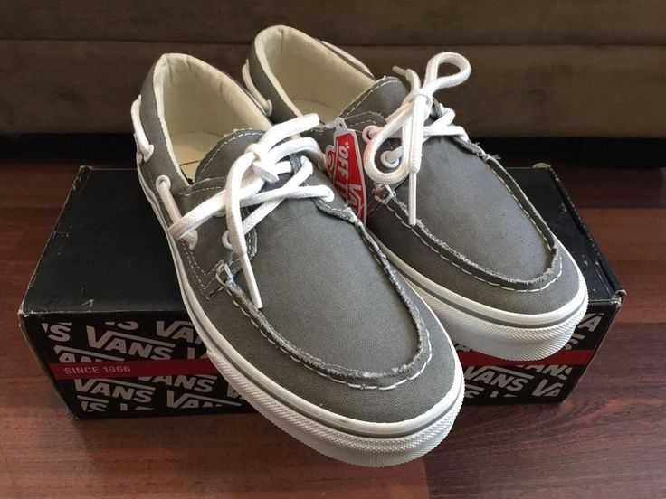 Vans Zapato Del Barco Pewter True White VN-0XC3195 Boat Shoes Mens 6 Womens  7.5