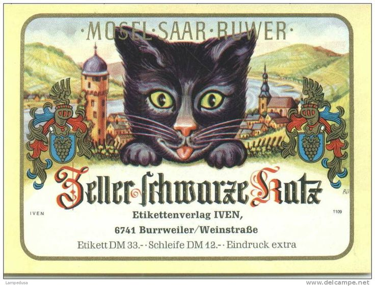 legend of a black cat protecting the best cask of wine has led to the area's reisling being called ZELLER SCHWARTZ KATZ