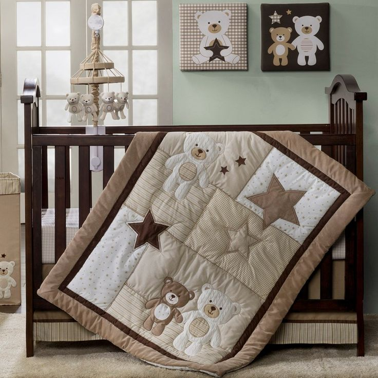 b is for bear nursery | Baby Bear 4pc Bedding Set 399617970 | Neutral Bedding Sets | Neutral ...