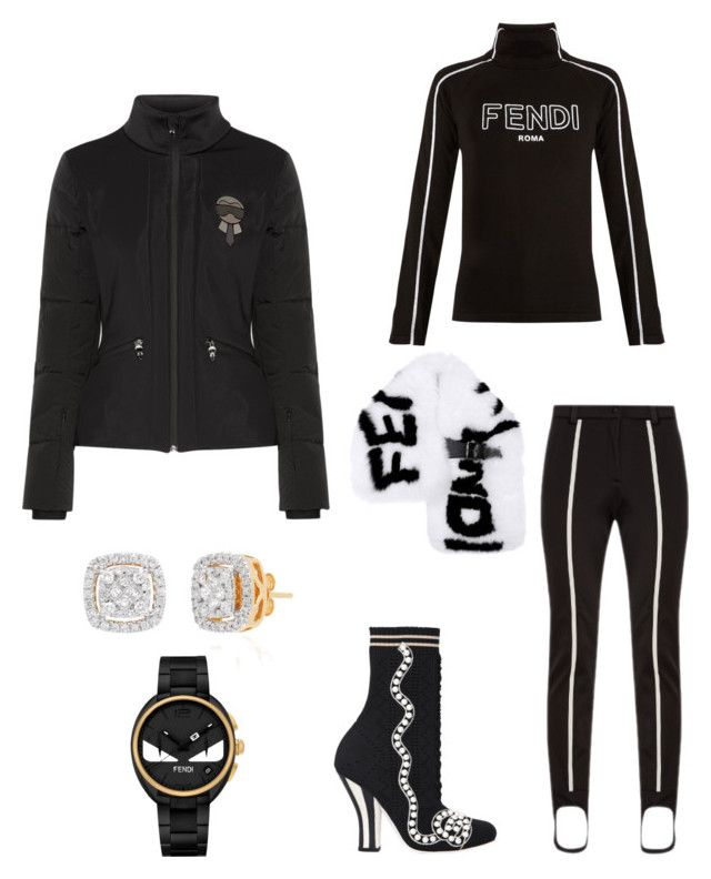 Nero Dinero by emmanuel-lewis on Polyvore featuring polyvore, fashion, style, Fendi, Belk & Co. and clothing