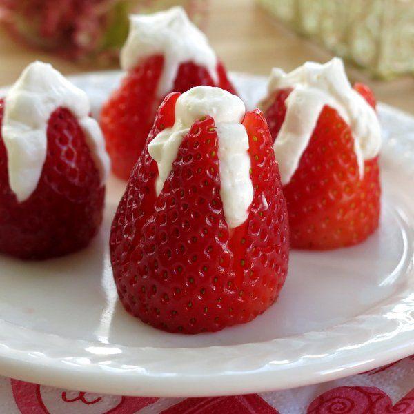 recipe: cheesecake stuffed strawberries pinterest [36]