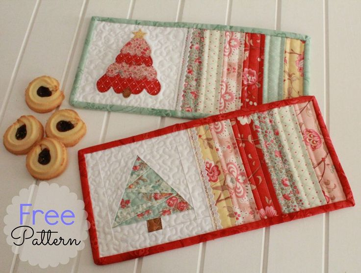 Threadbare Creations- Free Pattern Christmas Mug Rugs