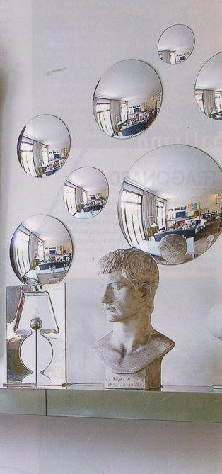 een bolle spiegel