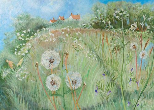 'Walk Round The Field' By Painter, Tessa Newcomb. Blank Art Cards By Green Pebble.