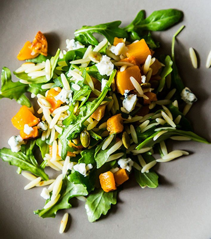 Fall Orzo Salad with Butternut Squash & NO Blue Cheese
