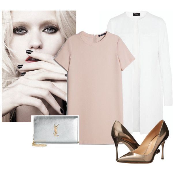 8 by smail-2033 on Polyvore featuring мода, MANGO, Joseph, Sergio Rossi, Yves Saint Laurent and Calvin Klein