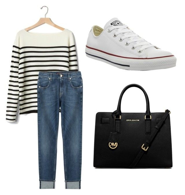 """Weekend Casual"" by kellylee651 on Polyvore featuring Gap, 7 For All Mankind, Converse and MICHAEL Michael Kors"