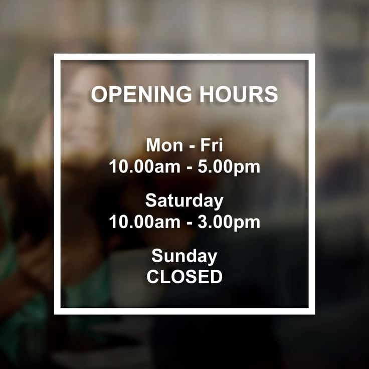Shop store opening times hours sign decal sticker window door vinyl decal business hours decal sign