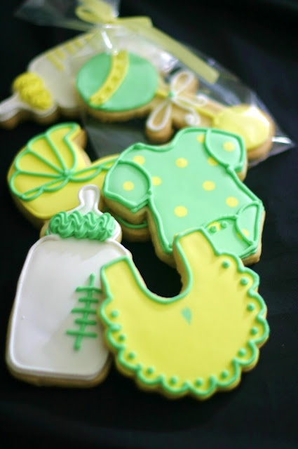 Gender neutral baby shower cookies