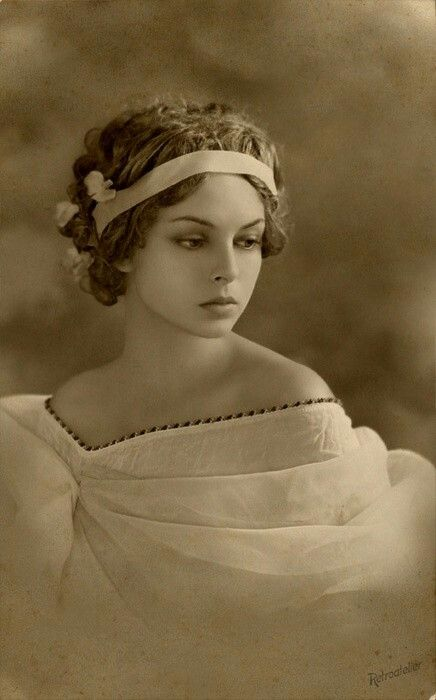 Vintage photo of a beautiful lady...