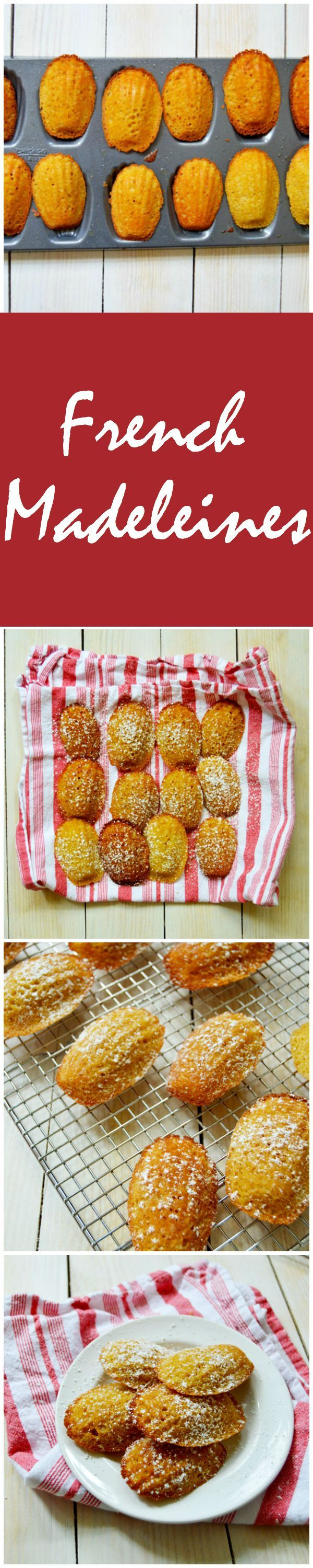 Classic French Madeleines made with brown butter, lemon zest, vanilla and a touch of honey. Dust them with powdered sugar for the perfect treat. | TheHungryTravelerBlog.com