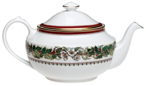 Spode Christmas Rose Covered Tea Pot by Royal Worcester ...