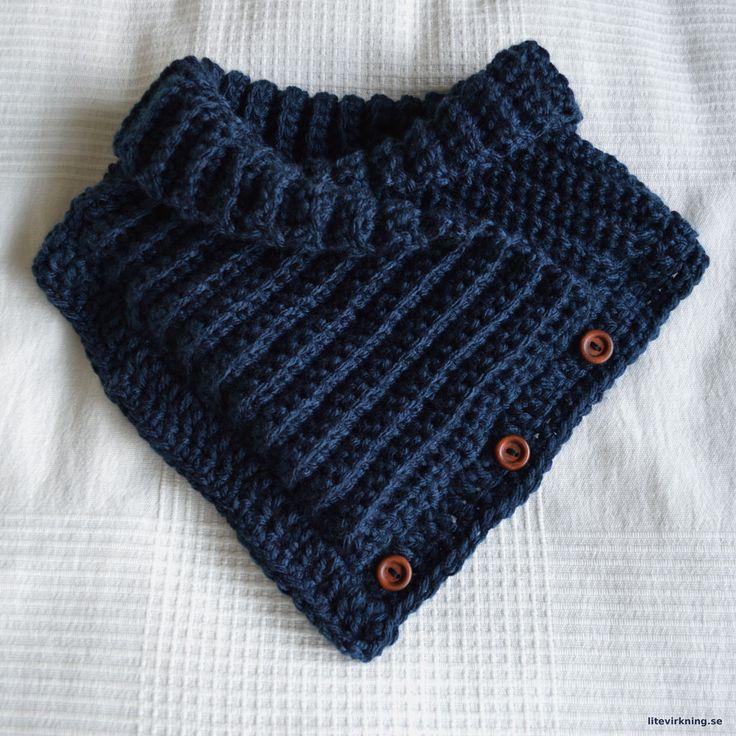 LiteVirkning - Sjalkrage blå, mönster av Pysselnettan