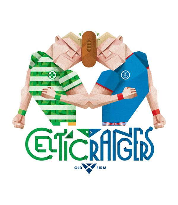 Celtic vs Rangers by Jorge Lawerta