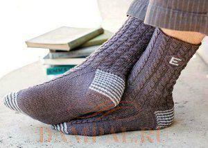 Вязаные мужские носки с монограммой. Обсуждение на LiveInternet - Российский Сервис Онлайн-Дневников