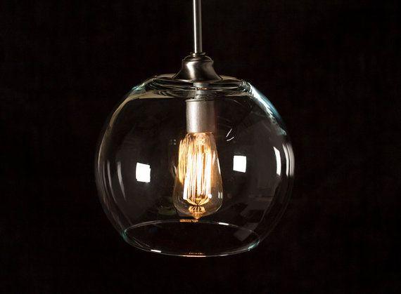 Pendant Light Fixture Edison Bulb Large Globe