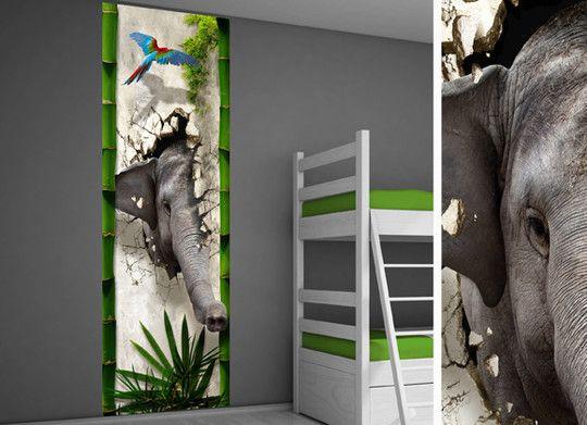 Zelfklevende muurdecoratie kinderkamer - Hip kinderkamer idee