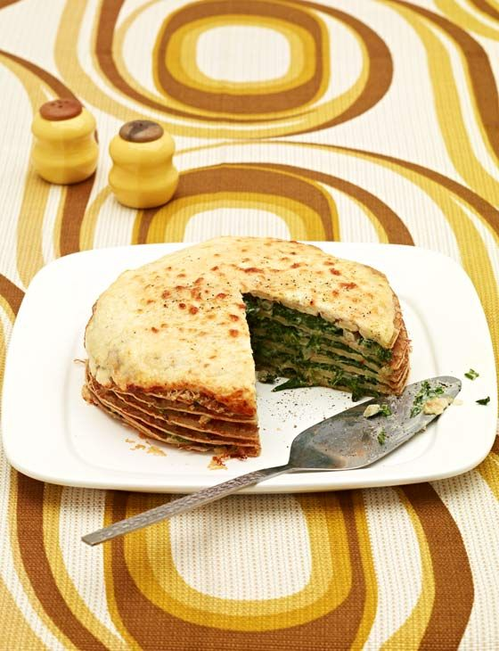 Spinach and cheese pancakes - Sainsbury's Magazine