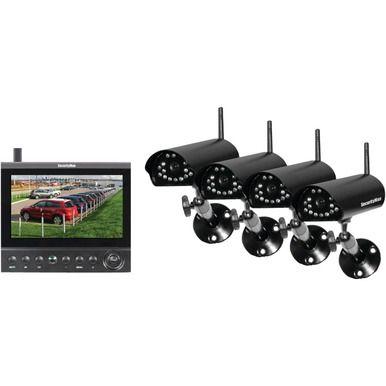 SECURITYMAN DigiLCDDVR4 Complete 2.4GHz Digital Wireless Camera LCD/DVR System with 4 Wireless Cameras
