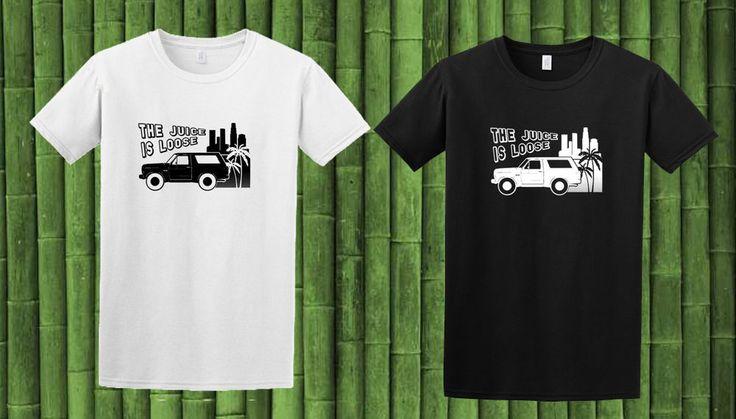 OJ Simpson Bronco Juice is Loose T-Shirt Colours Black&White Tee Shirt Top New 4 #Handmade #PersonalizedTee