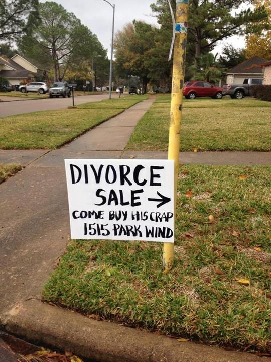Divorce Sale.