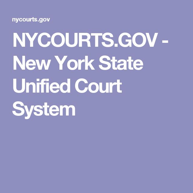 NYCOURTS.GOV - New York State Unified Court System