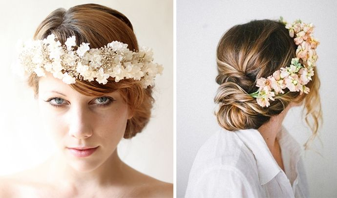 Floral crowns as wedding headpieces are hot on the scene and today Strictly Weddings shares inspiration that we are certain will excite our brides.
