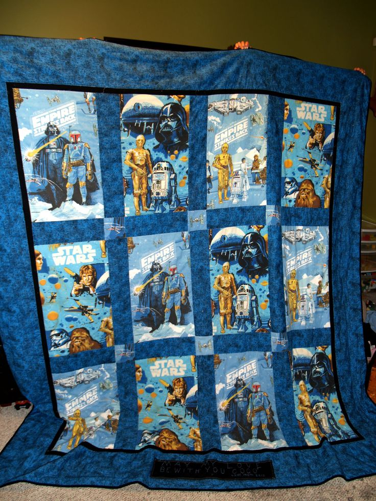 Star Wars Quilt made out of sheets. @michelle Millum how hard would this be to make?