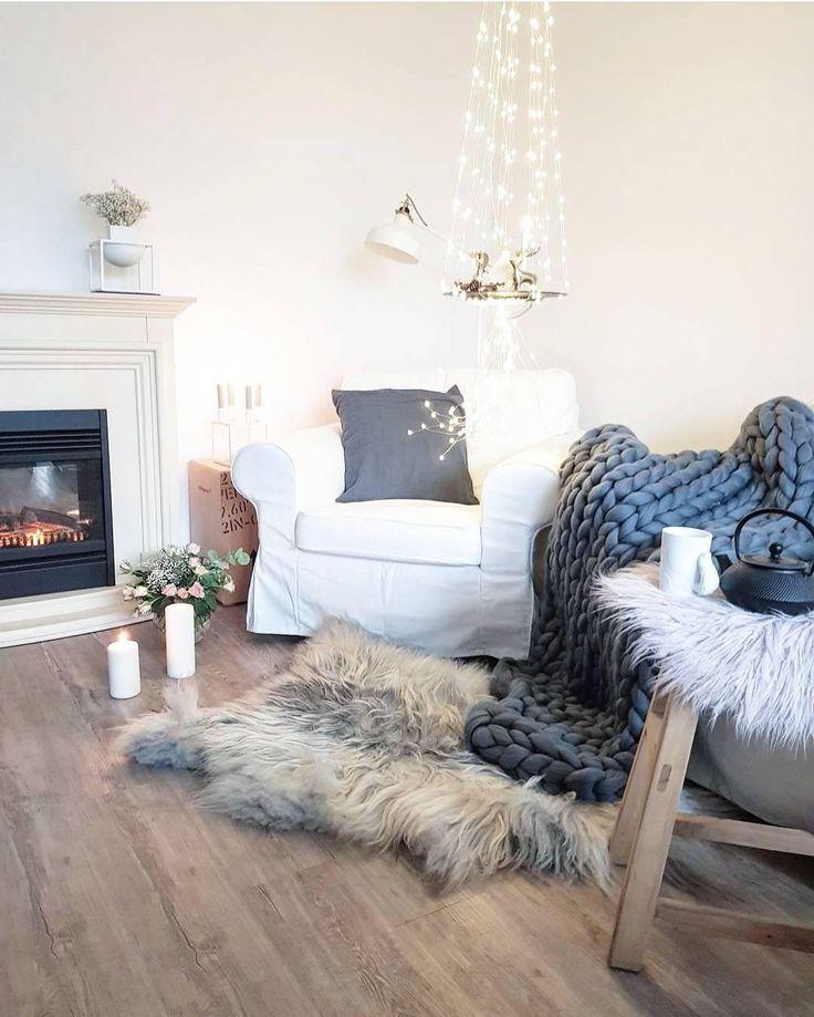 Die besten 25+ Winter wohnzimmer Ideen auf Pinterest gemütliches - wohnzimmer deko weihnachten