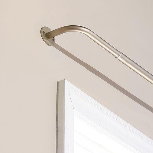 Wraparound 120 In. Bronze Curtain Rod
