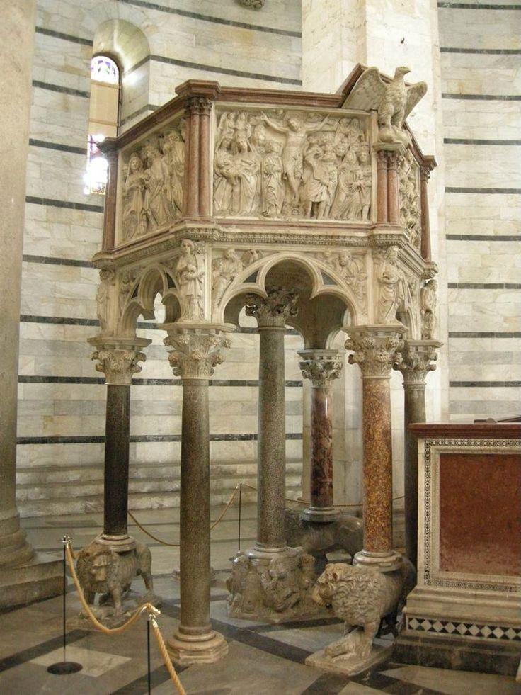 Nicola Pisano (active 1258–1278), Pulpit, Baptistery, 1259–1260. Marble, Duomo, Pisa #nyusurvey2