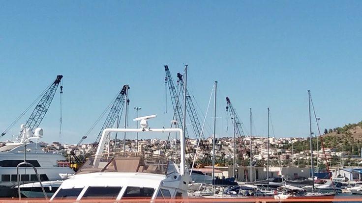 beautiful Port of Chalkis (Chalkida)greece.