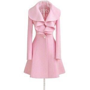 Chengdu Hualing Technology Co.,Ltd Women Fit Trench Coat Long Wool Blend Jacket Parka Fashion Girl Slim Outwear