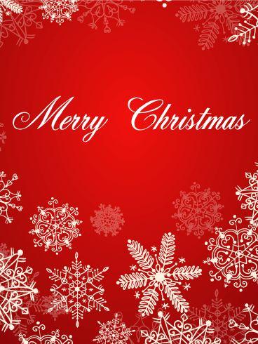 Christmas White Snowflakes eCard