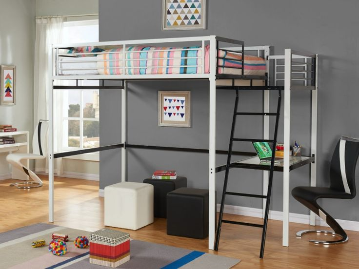 1000 id es propos de lit mezzanine 140 sur pinterest. Black Bedroom Furniture Sets. Home Design Ideas