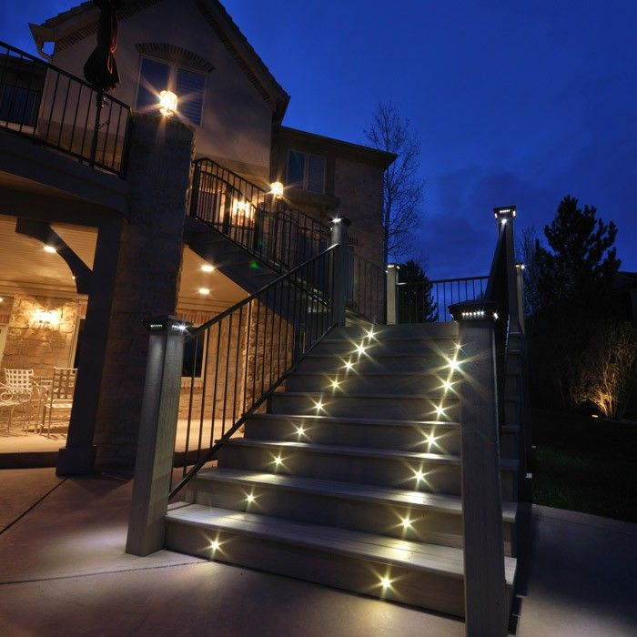 low voltage interior lighting kits%0A This outdoor LED recessed stair light kit allows exterior steps and stairs  to be illuminated for
