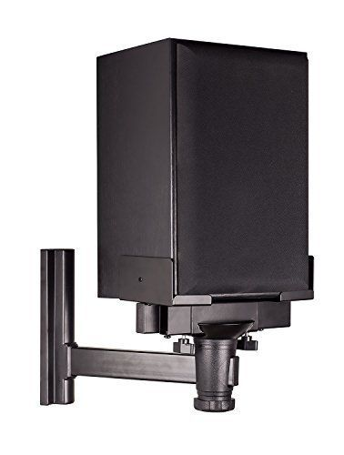 Introducing MountIt Speaker Wall Mount Universal Side Clamping Bookshelf Speaker Mounting Bracket Large or Small Speakers 1 Mount 66 Lbs Capacity Black. Great product and follow us for more updates!