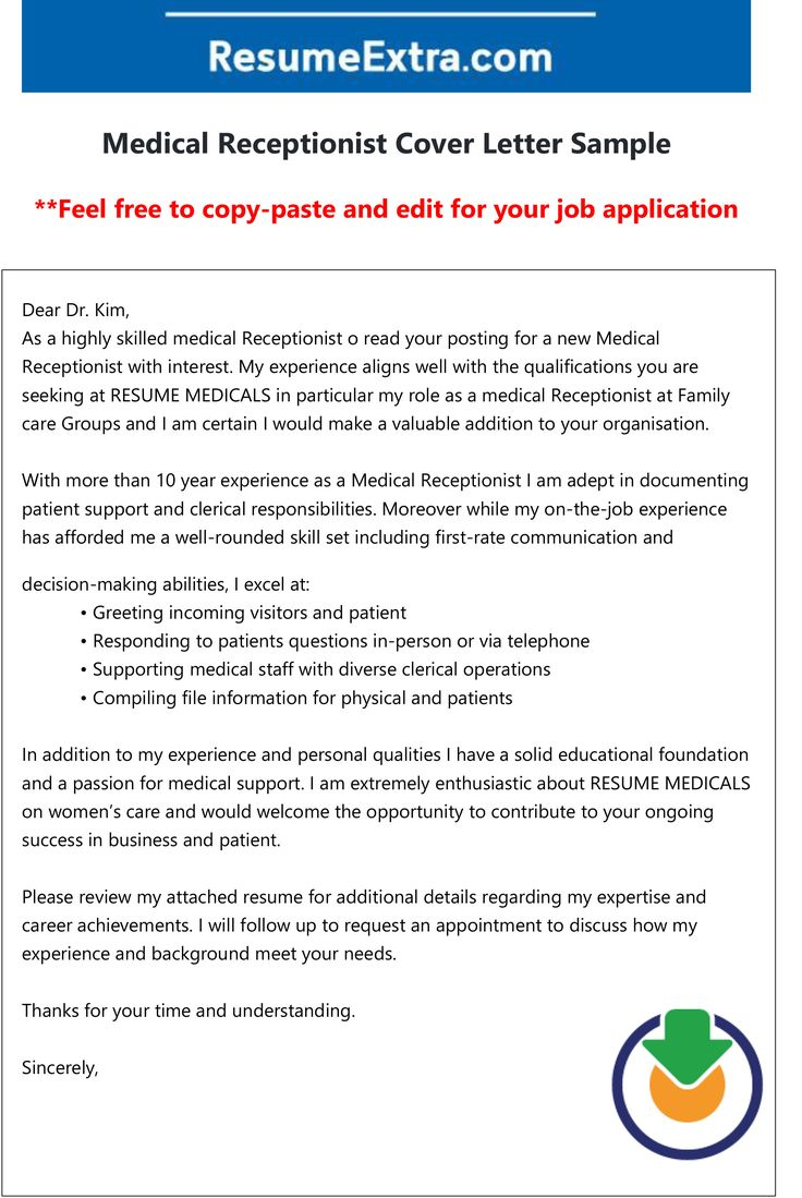 27++ Medical receptionist cover letter examples trends
