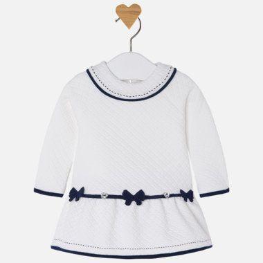 Dievčenské šaty s mašličkami Mayoral - Deep Blue