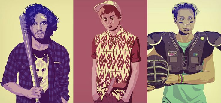 Game of Thrones 80's 90's Prints by Mike Wrobel | Cool Material
