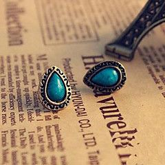 turquoise lureme®vintage forme de larme boucles d'oreilles