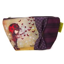 Trousse cosmétique Ketto - Fille coccinelle / Ketto's cosmetic bag- Ladybug girl - *Fabriqué à 80% de bouteilles de plastique recyclées / Made of 80% of recycled plastic bottles* www.kettodesign.com