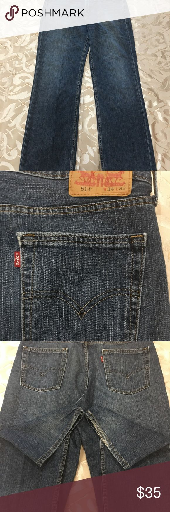MENS LEVIS JEANS Men's Levi's jeans light wash size 34/32. Gently used, good condition. Smoke and pet free home. Levi's Jeans Straight